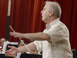Daniel Barenboim leads a rehearsal of the West...