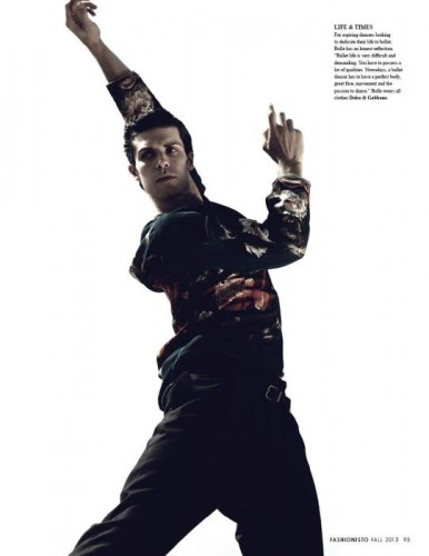 Roberto Bolle in Fashionisto, Fall 2013