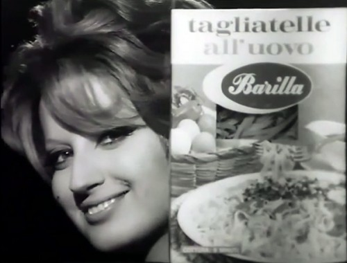Mina in a 1966 Barilla commercial