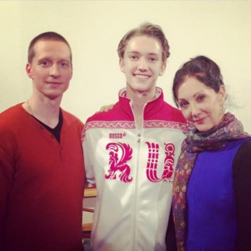 Julian Mackay with Ethan Stiefel and Cynthia Harvey
