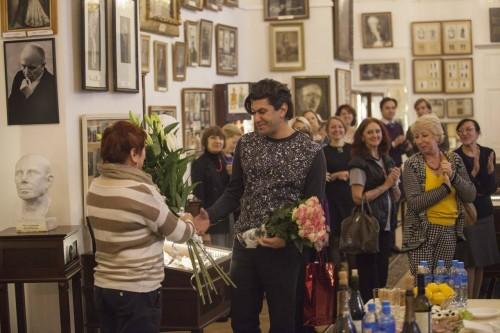 Vaganova Academy staff congratulate Nikolai Tsiskaridze on his second anniversary as Director