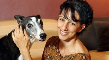 Monica Vaglietti, the ballet dancer with thirteen Greyhounds