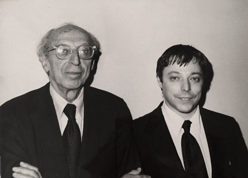 Aaron Copland and Michael Spierman in 1975