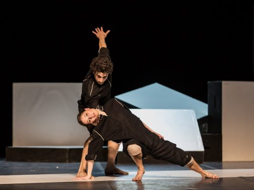 Virginia Giovanetti and Giacomo Luci in Cacti by Alexander Ekman, photo by Yasuko Kageyama, Teatro dell'Opera, Rome